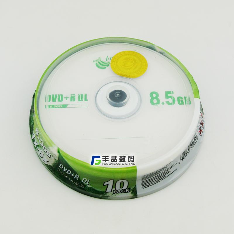 Banana large-capacity DVD CD DVD+R DL 8.5G 8x D9 blank CD CD discs 10pcs/lot(China (Mainland))