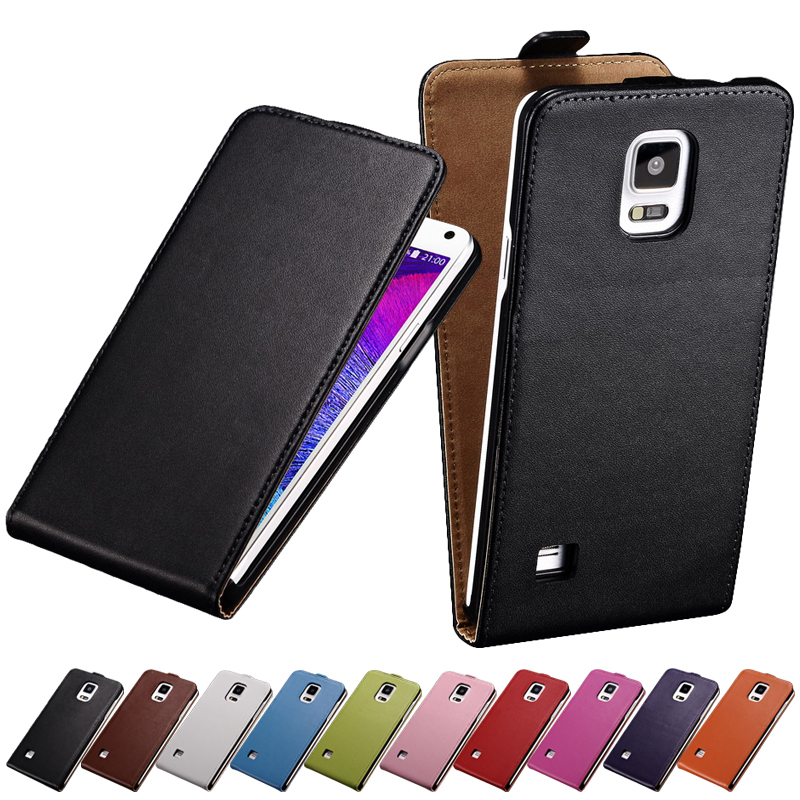 Flip Genuine Leather Case For Samsung Galaxy Note 4 N9100 Luxury Phone Cases For Samsung NOTE 4