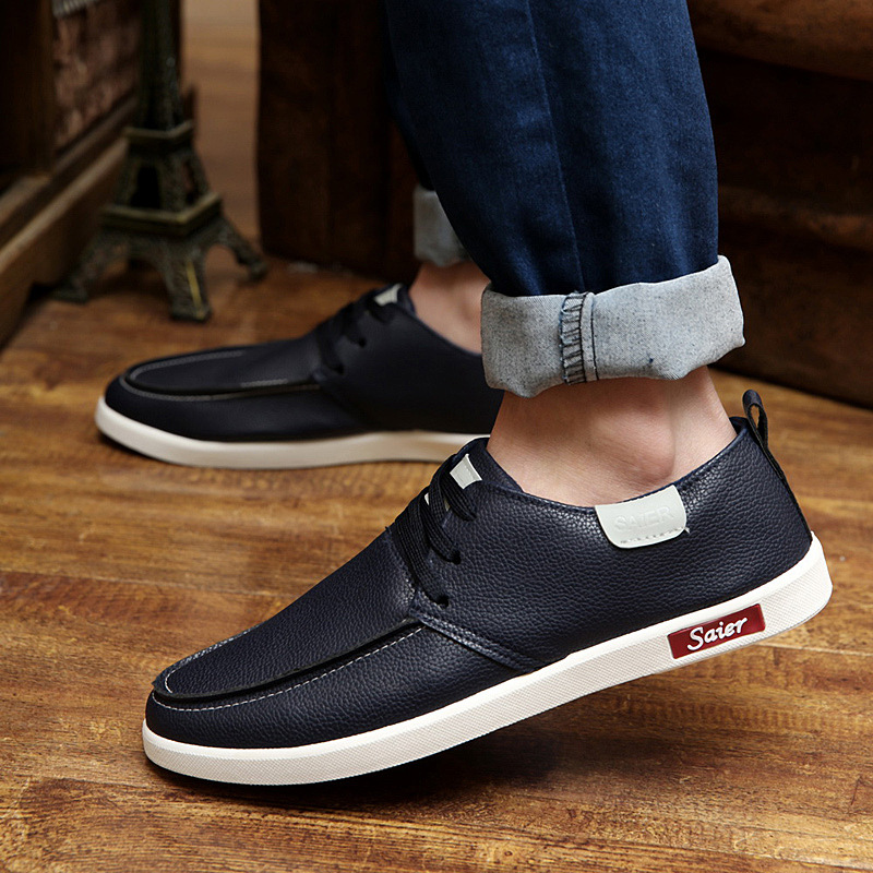 2016 New Spring Korean Men's Fashion Breathable Casual Shoes High Quality Brand Shoes Peas Shoes SIZE 39-44 Free Shipping(China (Mainland))