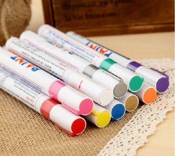 12x Car Motorcycle Tyre Tire Tread Marker Paint Pen White waterproof makers many colors wholesale free shipping