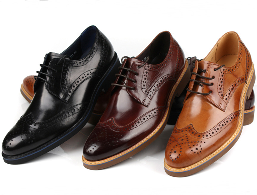 2015 new brown black brown mens dress shoes casual