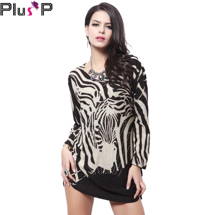 PP Plus Size 2015 Women Autumn Sexy Dress Leopard Striped Black Blue Long Sleeve Casual France Clothing Dress For Women WP011(China (Mainland))