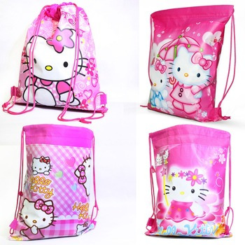New Hello kitty backpack school bags for girls lovely cartoon children backpacks bag for kids Wholesale &88281