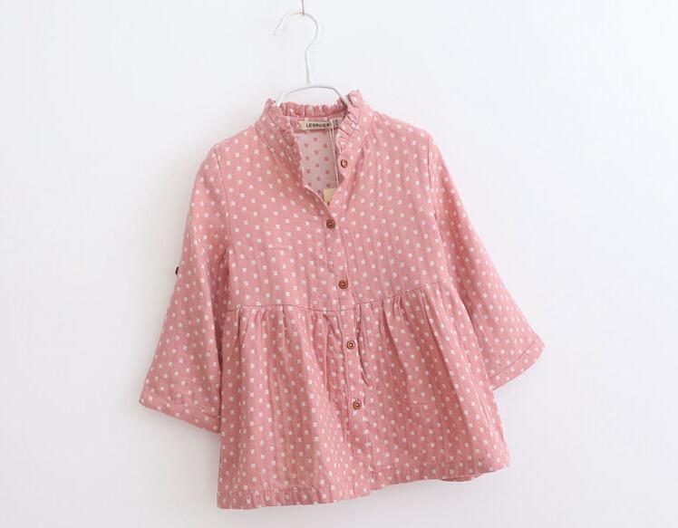 Фотография Wholesale 6pcs/lot 2015 Spring  Baby Girls Long Sleeve  Dresses Girls  Cute Dresses Kids Cotton Soft Dresses