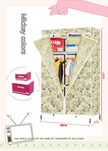 Simplified wardrobes/ Incorporating steel frame fabric assembled folding combination wardrobe(China (Mainland))