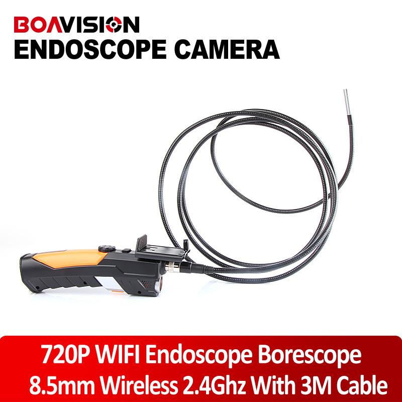 HD 720P Wireless WIFI 802.11 b/g/n 150Mbps Endoscope Video Inspection Snake Camera 3M 8.5MM Lens 1.0 Mega Pixles(China (Mainland))