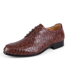 Brand Genuine Leather Oxford Shoes For Men, Casual Men Oxford, Men Crocodile Shoes, Men Dress Shoes(China (Mainland))