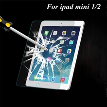 Anti-scratch Tempered Glass Screen Protector Case For ipad mini 1/ 2 Retina Clear Film With Retail box for apple ipad mini(China (Mainland))