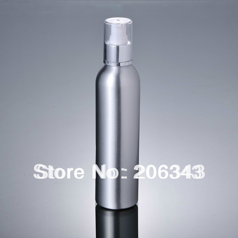 100pcs 120ml Aluminium pump bottle with silver collar or lotiong bottle