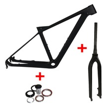 Buy Full Carbon MTB Frame 27.5er 650B Mountain Bicycle Frameset 135*9mm Thru AXle Frame UD Matte/Glossy Frame+Fork+Headset+Clamp for $428.00 in AliExpress store