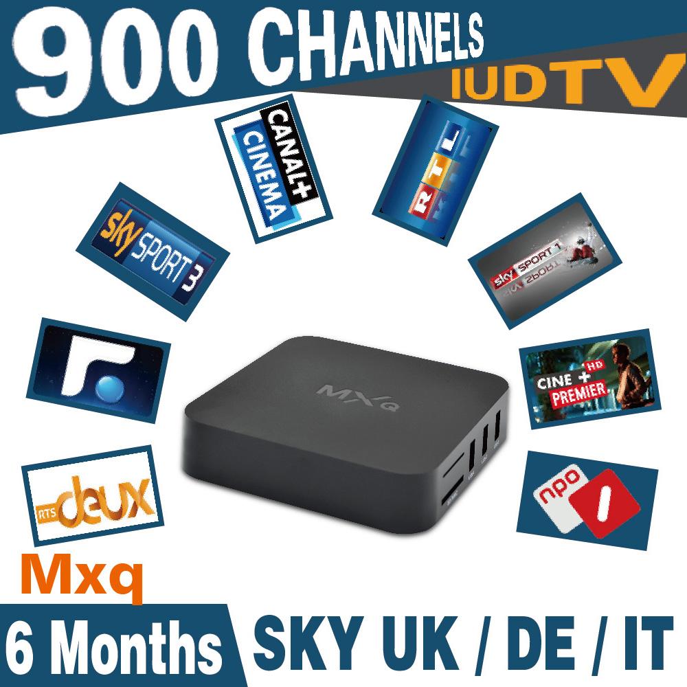 6months IUDTV Italy UK DE European IPTV account free with MXQ S805 Quad Core Smart TV