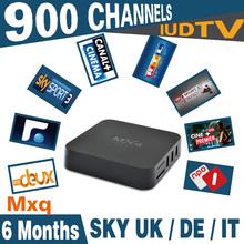 6months IUDTV Italy UK DE European IPTV account free with MXQ S805 Quad Core Smart TV 1G/8G Kodi Miracast MXQ Sky Italy iptv box
