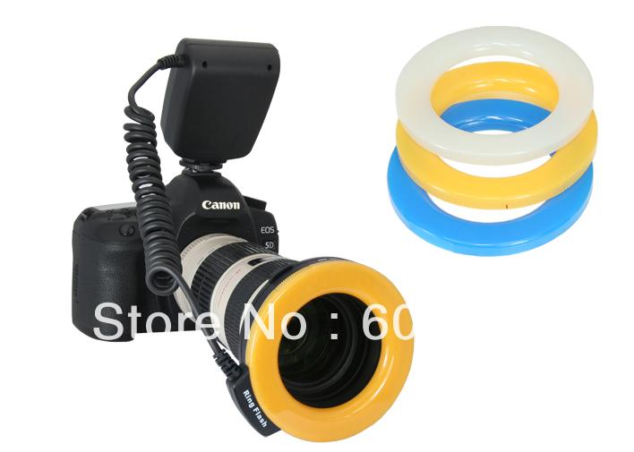 Wholesales Macro O Ring 48-LED Flash Light for 49/52/55/58/67/72/77mm Lens w/ LCD(Hong Kong)