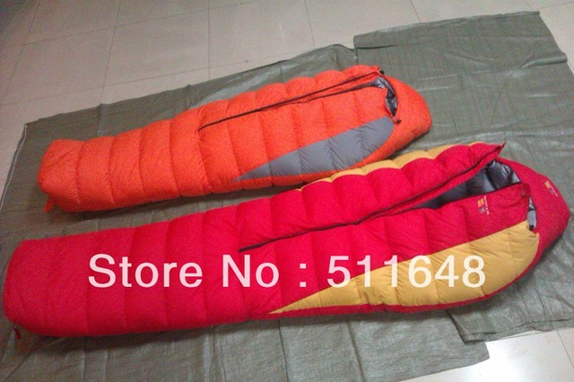 Free Shipping Mummy Adult Outdoor Camping Goose Down Sleeping Bag Extreme Cold Weather -30 degree waterpoof ripstop fabric