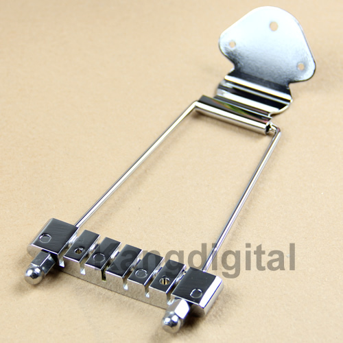 1 pc Chrome 6 String Guitar Tailpiece Trapeze Open Frame For Archtop Guitar Free Shipping(China (Mainland))