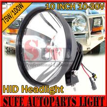 2PCS 9-32V 75W 100W 10'' HID Driving Light 4x4 Fog Light offroad Truck Tractor Xenon Work Light External Lamp 4300K-12000K Head(China (Mainland))