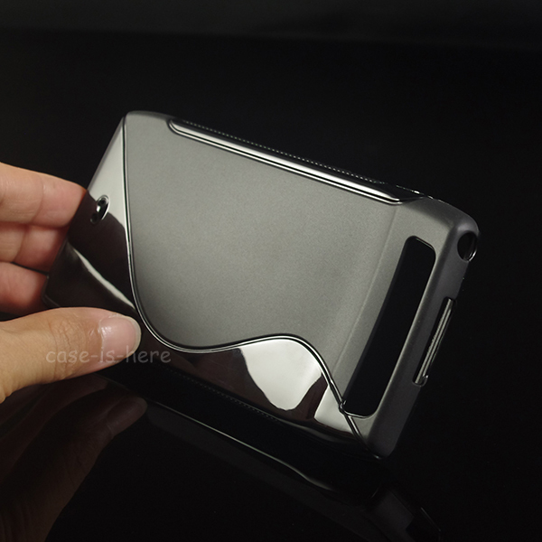 Soft S-Line Wave Anti-skid TPU Gel Case Skin for Motorola Droid Razr MAXX Verizon Mobile Phone Protective Rubber Matte Cover(China (Mainland))
