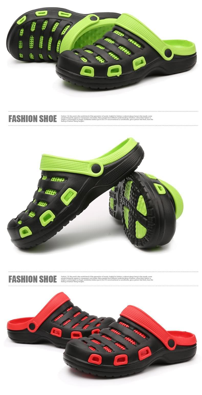 Indoor Classic Unisex hole trigger slippers shoes men's summer open-toed shoes men sandals, sandals Home sandals women