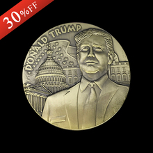 Buy 2PCS/lot Big Zise 80 * 10 mm Huge President US Donald Trump Antique Bronze Coin USA Trump Double Eagle souvenir Coin New arrival for $28.08 in AliExpress store