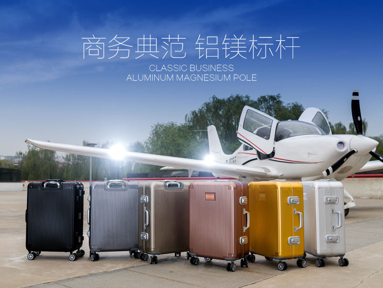 "18"" 20"" 24"" 100% aluminum magnesium alloy universal wheel Hardside luggage suitcases Trolley cases EMS free shipping A1010(China (Mainland))"