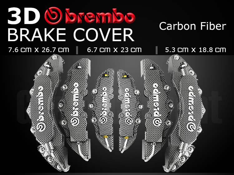 Group Sale!6pairs 2L+2M+2S Car Brake Caliper Carbon Fiber color Auto wheel install remodel motorbike hot attractiver model kit(China (Mainland))