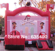 PVC5X4m Children Welcome Inflatable Trampoline, Inflatable bouncer Free Shipping!(China (Mainland))