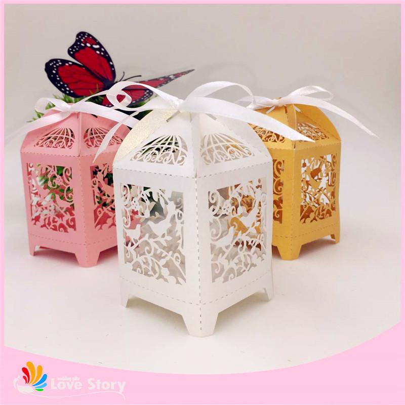 New Wedding Favor Ideas 2015 : 2015 new birdcage wedding favor box,love birds candy box,souvenirs ...