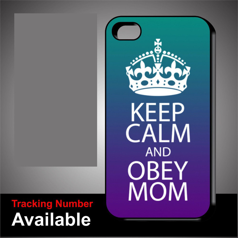 keep calm and obey Mommy order cell phone case cover for iphone 4 4s 5 5s 5c 6 plus for Samsung Galaxy S3/4/5 Note 2/3/4(China (Mainland))