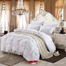 100% blanco pato / ganso edredón de invierno edredón edredón funda de edredón manta de llenado con twin queen king size nave rápida(China (Mainland))