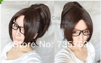 Hanji Zoe Attack on Titan Cosplay Wig with Clip on Ponytail
