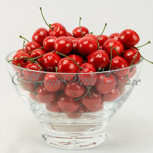 Scrapbooking 100pcs lifelike fake food cherry plastic for Artificial cherries decoration