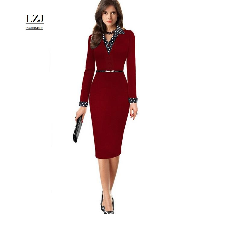Clearance female summer high quality free delivery door plus size pencil  dress deep V collar stitching 36020170316020659183 36020170316020615393 ... 34f83ebbe646