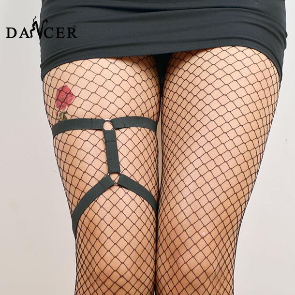 Ног подвязки Harajuku готический жгут модный сексуальный черный спандекс жгут , присущие ...