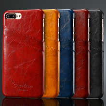 Case For iphone 7 / 7plus Back Cover Soft Leather Wallet Card Slots Luxury Fundas Coque High Quality Mobile Phone Accessories