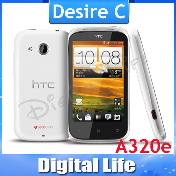 A320 Original HTC Desire C/ A320e Android GPS WIFI 3.5''TouchScreen 5MP camera Unlocked Cell Phone(China (Mainland))
