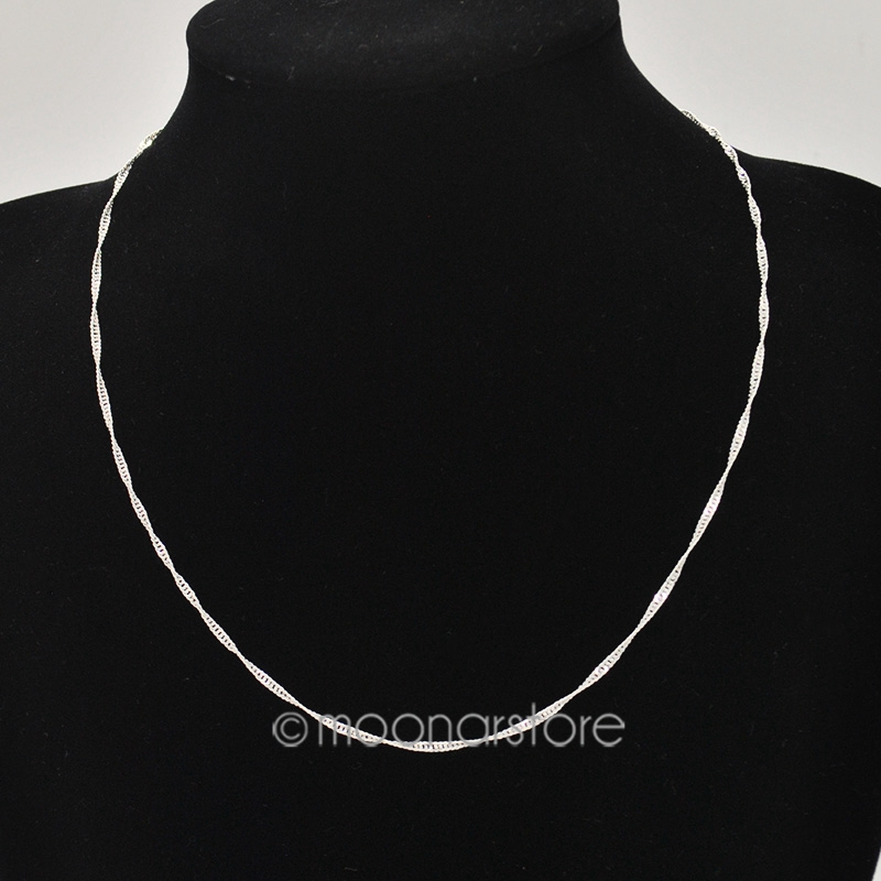 Women's Elegant Silver Plated Water Wave Ripple Necklace Chain Chic Fashion Jewelry Jewel FYMPJ216*60(China (Mainland))