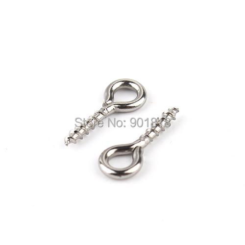 5 New 10x4mm Small Tiny Mini Stainless Steel Screw Eye Pin Eyepin Hooks DIY Jewelry Findings F2268 - Yiwu Xinyao Factory store