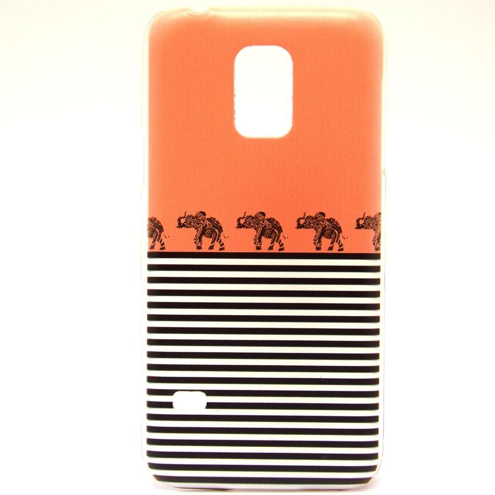 Elephant Stripes Plastic Case Samsung Galaxy S5 Mini - GR8 Deal store