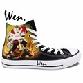 Anime Sneakers Naruto Gaara Black Butler Sabastian Hand Painted HIgh Top Canvas Shoes Man Woman Boys