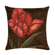45*45cm Printed Cotton Linen Cushion Cover Flower Home Decor Pillowcase Octopus Sofa Bedding Cushion Case(China)