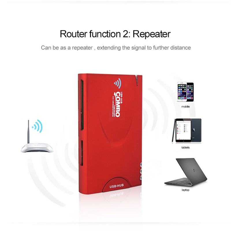 Power Bank Wireless Network Storage Wireless Card Reader with Wireless Hub and 2-in-1 Function USB 3G Router for Smart phone(China (Mainland))