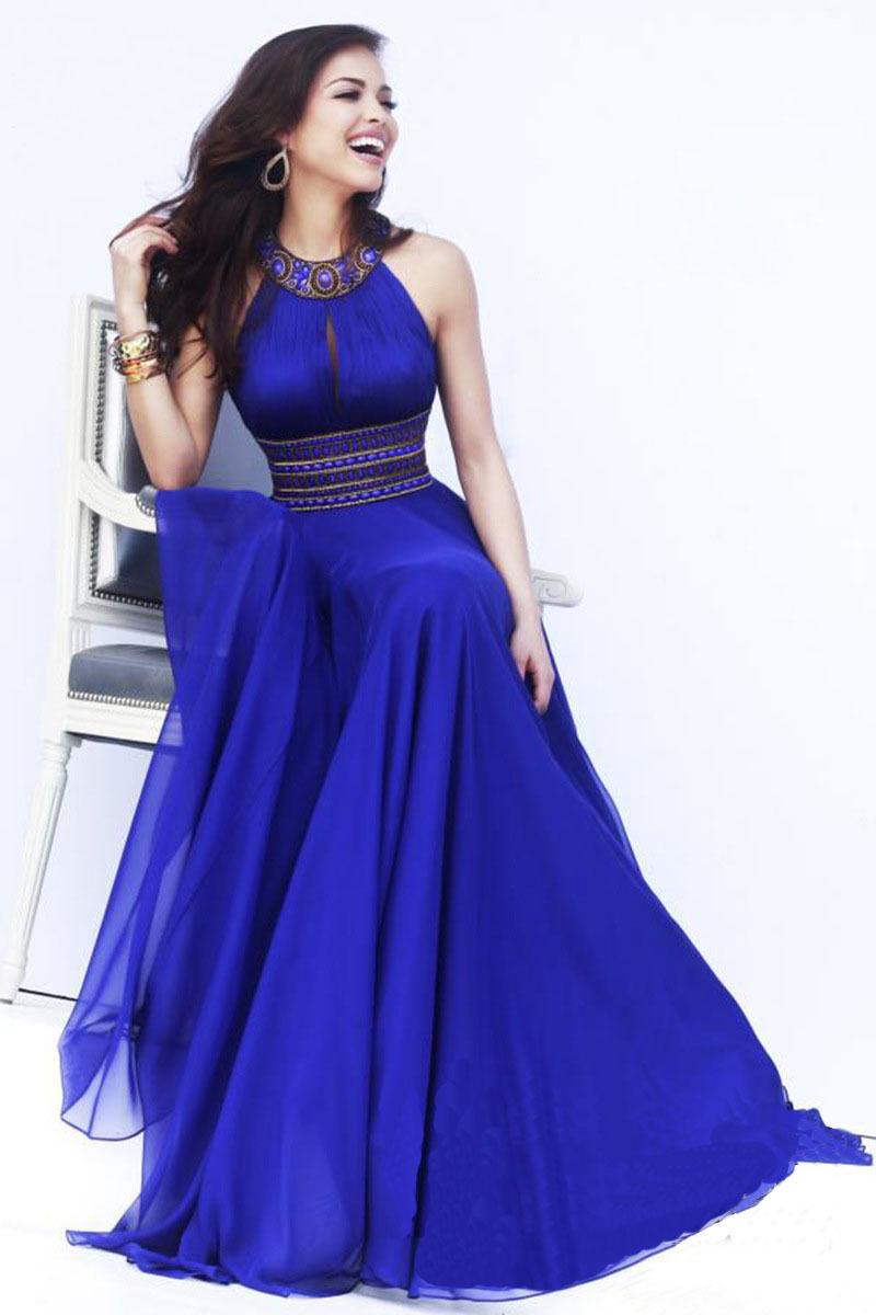 Tienda Online Vestido del verano de bohemia cielo azul largo partido ...