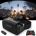 Hot!Google Cardboard VR shinecon ii 2.0 Pro Version VR Virtual Reality 3D Glasses+Smart Bluetooth Remote Control Gamepad