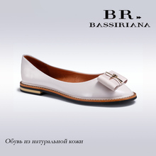 BASSIRIANA - 2016 New spring shoes woman genuine leather flats ladies shoes high quality shoes for women top sale flats shoes(China (Mainland))