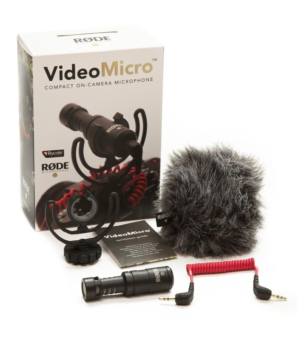 Rode VideoMicro Compact On-Camera Recording Microphone for Canon Nikon Lumix Sony DJI Osmo DSLR Camera Microfone(China (Mainland))
