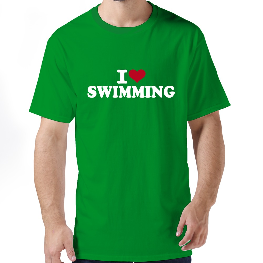 Couple Fun Tee Shirt Funny I Love Swimming T Shirt For