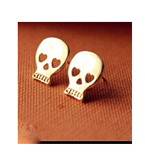 EY508 Latest Fashion Mischa Barton Wishing Exaggerated Skeleton Models Collarbone Earrings Jewelry Factory Direct(China (Mainland))