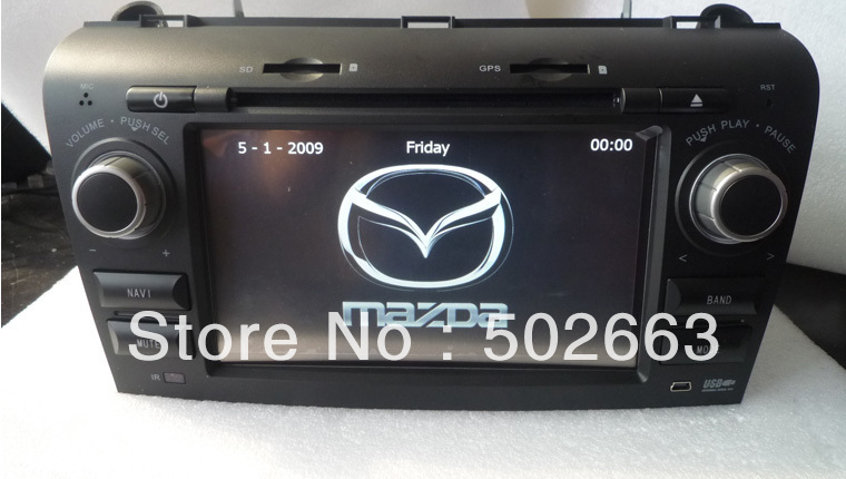 FREE MAP!!!!!! cheap car dvd gps for old MAZDA3 with gps navigation+bluetooth+radio+usb+sd(China (Mainland))