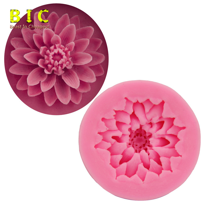 High Qualtiy DIY Chrysanthemum Flower Cake Molds Fondant Chocolate Silicone Molds Candy Moulds SGS FDA Certified Bakeware(China (Mainland))