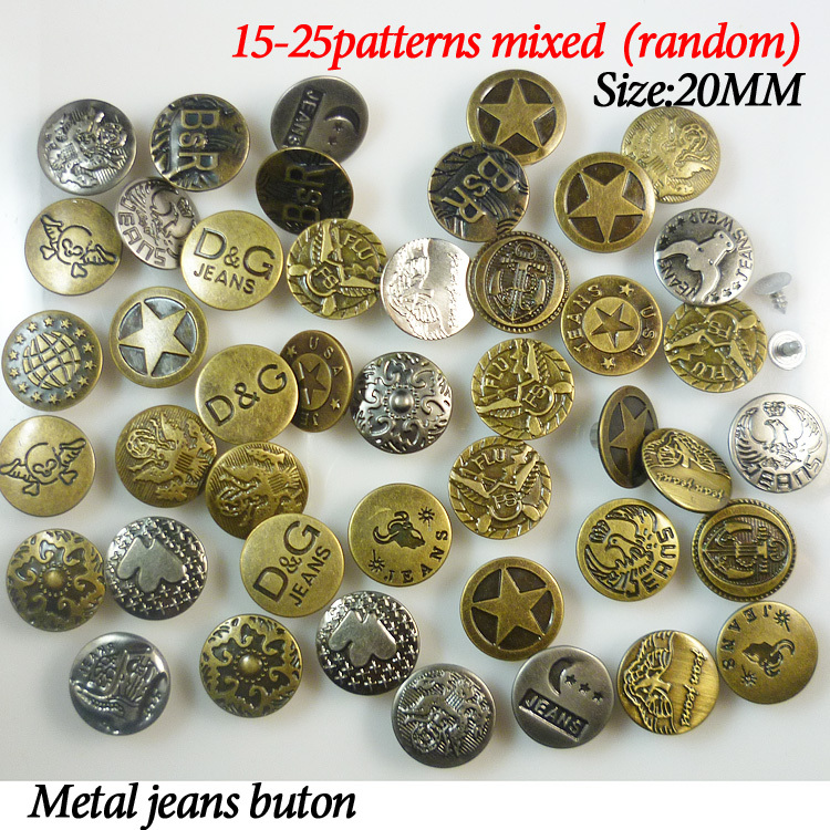 Metal Jeans Buttons Metal Shank Jeans Buttons